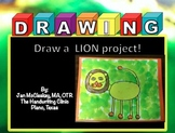 Fine Motor: Draw a Lion Project for Pre-K through 3rd grade