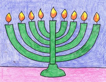 Draw a Menorah