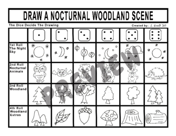 Draw a Nocturnal Woodland Scene