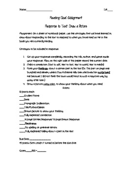 Draw a Picture - Cafe Comprehension Worksheet