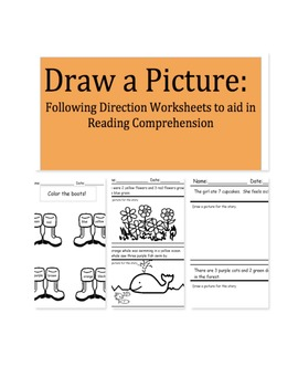 draw a picture following direction worksheets to aid in. Black Bedroom Furniture Sets. Home Design Ideas
