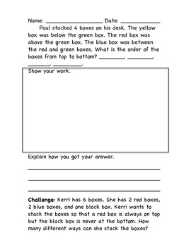 Draw a Picture Problem Solving Packet 2.OA.1