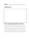 Draw a Picture Write a Sentence Template