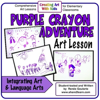 Art Lesson - Purple Crayon Adventure