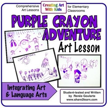 Art Lesson Purple Crayon Adventure