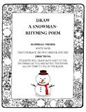 Draw a Snowman- Rhyming Poem