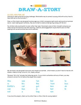 """Draw-a-Story Early Reader Mini Book: """"Ed's Cat"""""""