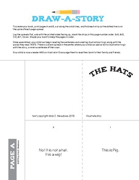 "Draw-a-Story Early Reader Mini Book: ""The Hats"""