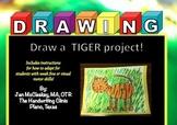 Fine Motor: Draw a Tiger FUN Art and Fine Motor Project!