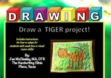 Fine Motor: Draw a Tiger FUN Art and Fine Motor Project!
