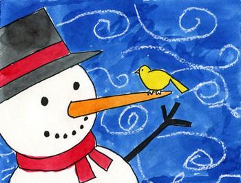Draw a Windy Snowman