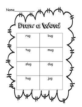 Draw a Word Literacy Centre Draw a Word Numeracy Centre