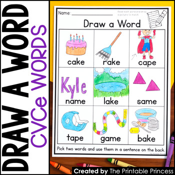 Draw a Word - Long Vowel Word Family Edition