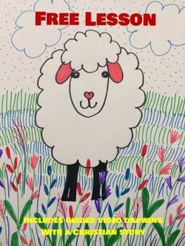 Draw a lamb K-grade3