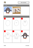 Penguin: Draw a penguin - step by step