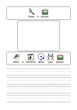 Draw a picture and write a sentence