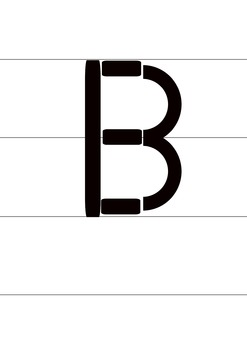 Draw alphabets using lines and curves