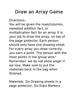 Draw an Array Game