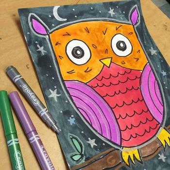 Draw an Easy Owl