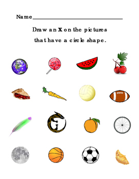 Draw an X on Pictures that have a Circle Shape 1page