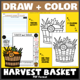 Draw and Color - A Harvest Basket of Plants (One Page Dire