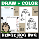 Draw and Color - A Hedgehog Hug (One Page Directed Drawing)