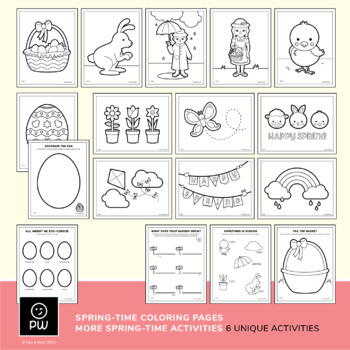 Draw and Color Activities - Spring Pack
