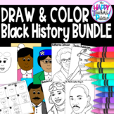 Draw and Color ~ Black History Month~BUNDLE Directed Drawings and Coloring Books