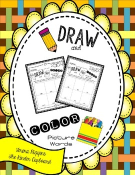 Draw and Color Picture Words { CVC Word Family Edition }