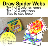 Draw and Color Spider Web Designs