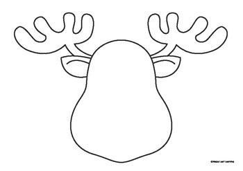 Draw and Color a Reindeer Christmas Activity