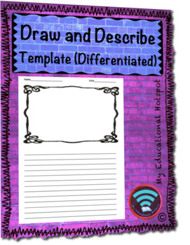 Draw and Describe Differentiated Template