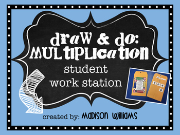 Draw and Do Multiplication Workstation; Multi-digit or Single digit Center