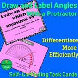 Draw and Label Angles With a Protractor Self Checking Task