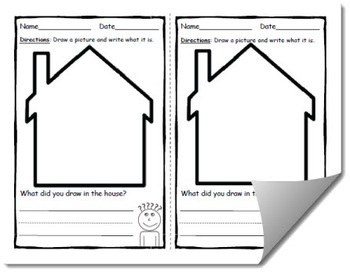 Draw and Label Inside a House (Building Early Vocabulary)