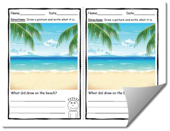 Draw and Label Beach Scene (Building Early Vocabulary)