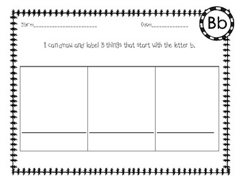 Draw and Label Beginning Sound Practice