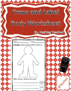 Draw and Label Body Image (Building Early Vocabulary)