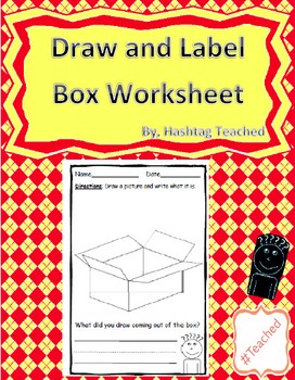 Draw and Label Box Scene (Building Early Vocabulary)