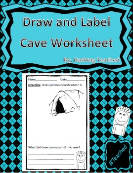 Draw and Label Cave Scene (Building Early Vocabulary)