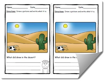 Draw and Label Desert Scene (Building Early Vocabulary)