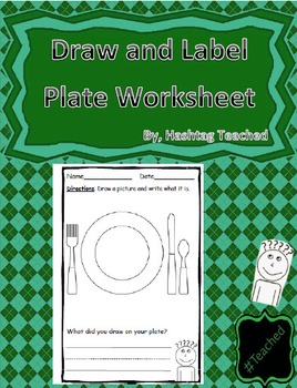 Draw and Label Dining Plate Scene (Building Early Vocabulary)