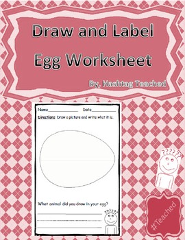 Draw and Label Egg Scene (Building Early Vocabulary)