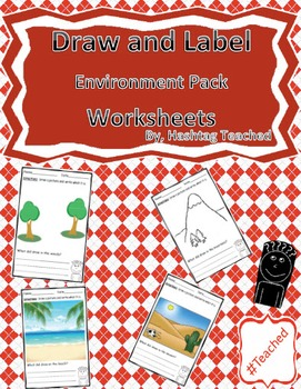 Draw and Label Environmental Pack Scene Bundle (Building Early Vocabulary)