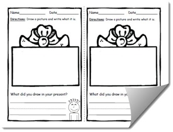 Draw and Label Gift Scene (Building Early Vocabulary)