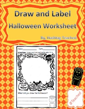 Draw and Label Halloween Scene (Building Early Vocabulary)