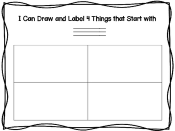 Draw and Label Letter of the Week