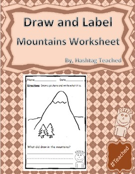 Draw and Label Mountains Scene (Building Early Vocabulary)