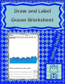 Draw and Label Ocean Scene (Building Early Vocabulary)