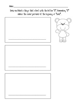 Draw and Label Pictures Beginning with b and l